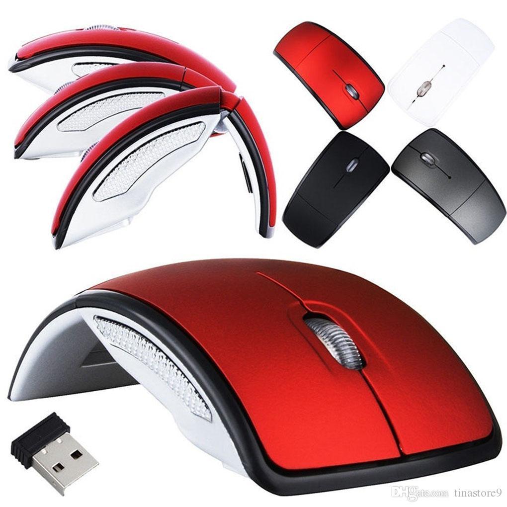 Arc 2.4G Wireless Folding Mouse Cordless Мыши USB Складные Ресиверы Игры Компьютер Ноутбук Аксессуары тина