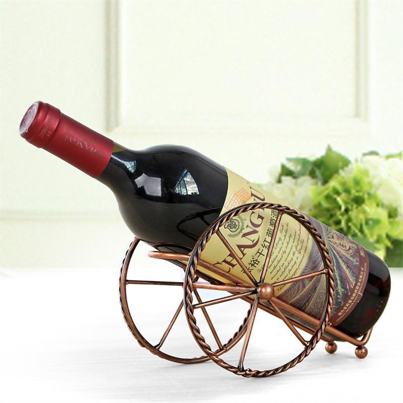 Handmade Plating Iron Wine Racks Home Kitchen Bar Accessories Practical Wine Holder Wine Bottles Decor Display Shelf And Racks Preferred