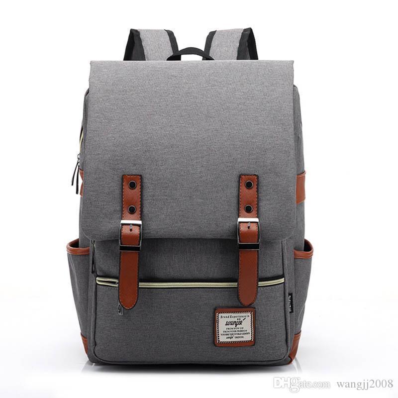 Canvas menina Backpack mochilas Bolsa Splashproof Laptop Backpack Grande Capacidade Mochila para meninos e meninas de alta qualidade novo