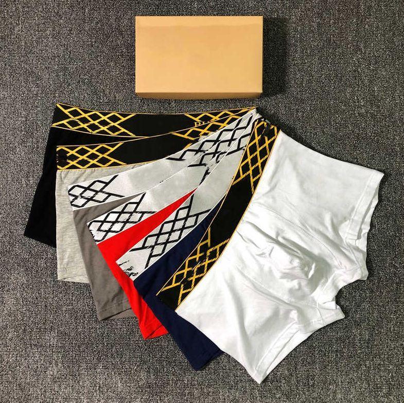 2020 de lujo del diseñador del Mens boxeadores para hombre de la moda de Nueva llegada marca de ropa interior C0py Carta L0g0 Diseñador Underpants 6 colores Tamaño M-2XL YF20413