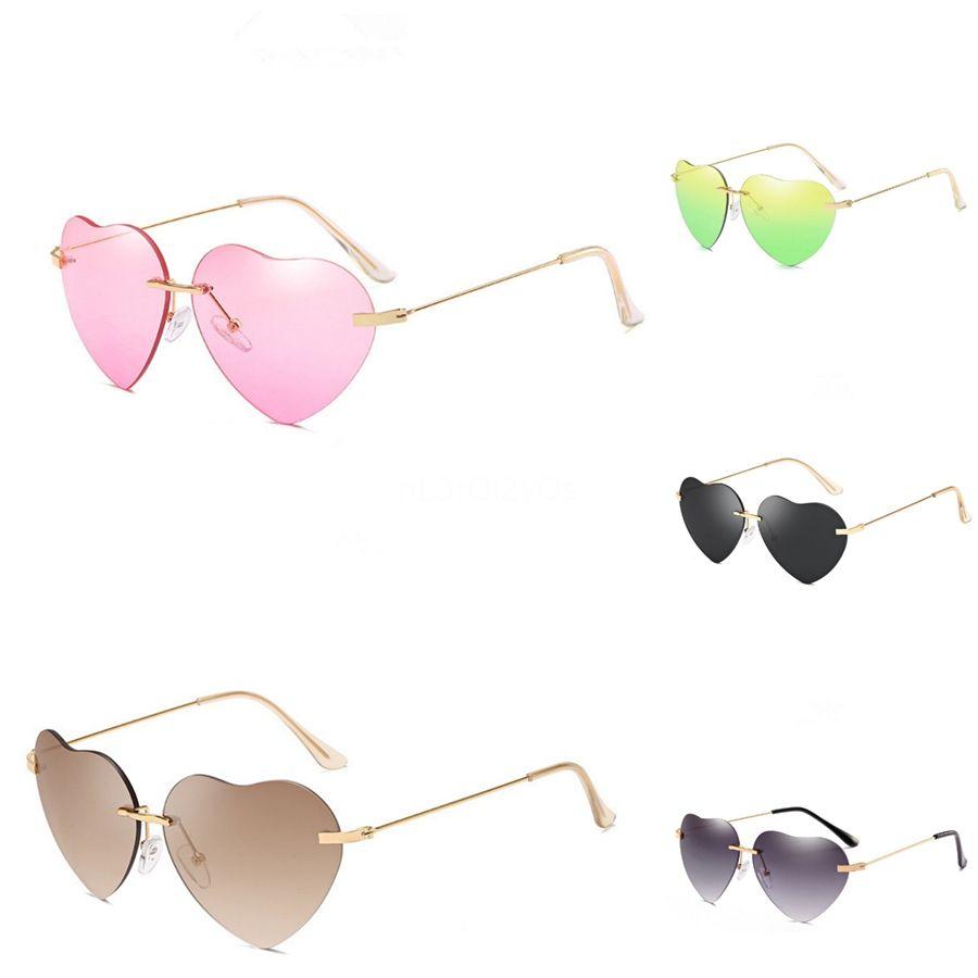 Madeliny New Irregular Oval Women Heart-Shaped Sunglasee Fashion Red Sun 2020 Metal Frame Personality Men Glasses Eyewear Ma393 C19041001 #34