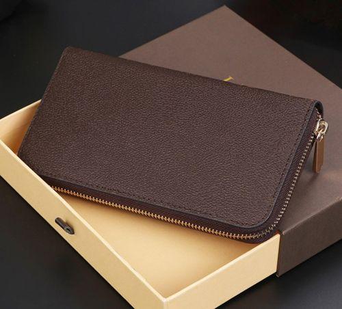 kutu toz torbası 60015 60017 iyi fiyat ile 2019 yeni Moda Tasarımcısı Debriyaj Gerçek Deri Zippy Cüzdan