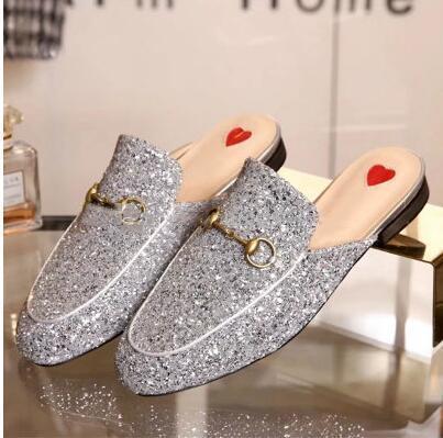 sapatos de couro de luxo homens Muller Designer chinelo sapatos das mulheres dos homens com fivela de Moda Princetown chinelos Casual mulas Flats 38-46 L14