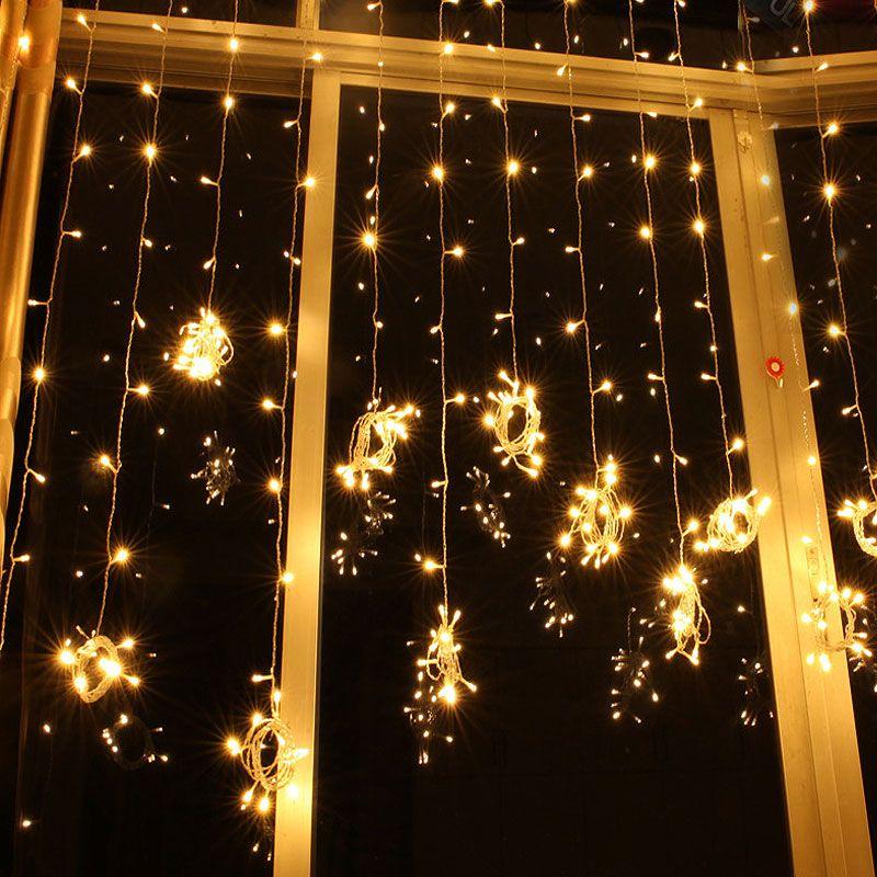 Hot 3Mx3M 4Mx3M 6Mx3M 8Mx3M 10Mx3M 110V 220V Rideau En Plein Air Icicle String Light Nouvel An Jardin Xmas Fête De Mariage Déco String Fairy Lights