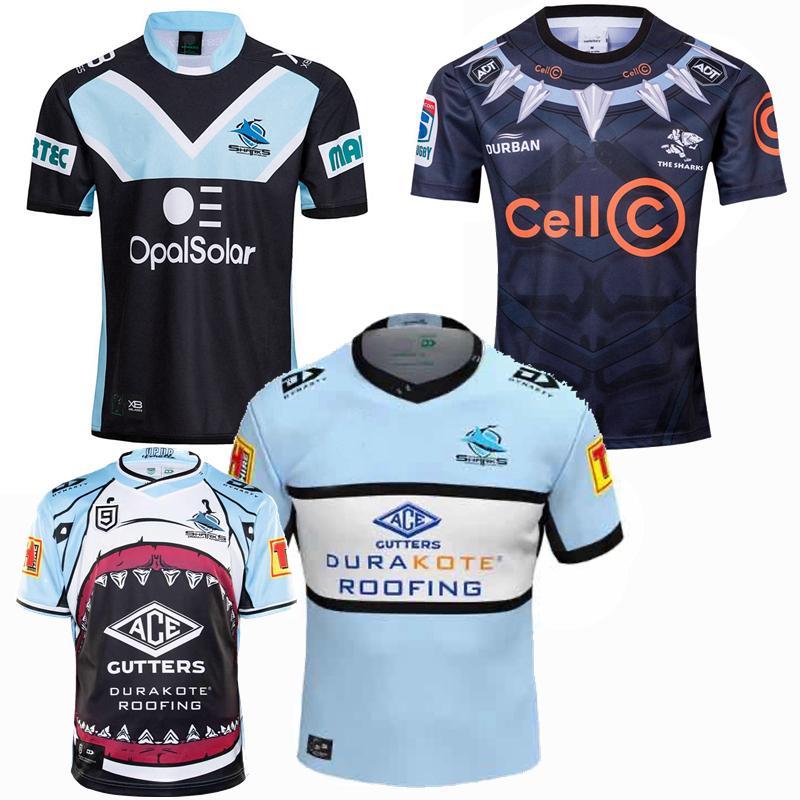 Top New 2018 2019 2020 2021 shark rugby Jerseys Rugby League jersey 19 20 21 shirts 5XL
