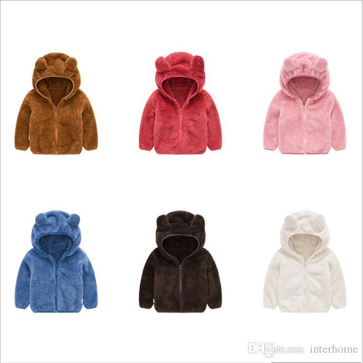 US Baby Girls Kids Toddler Fleece Hooded Coat Winter 3D Fox Ear Jacket Outerwear