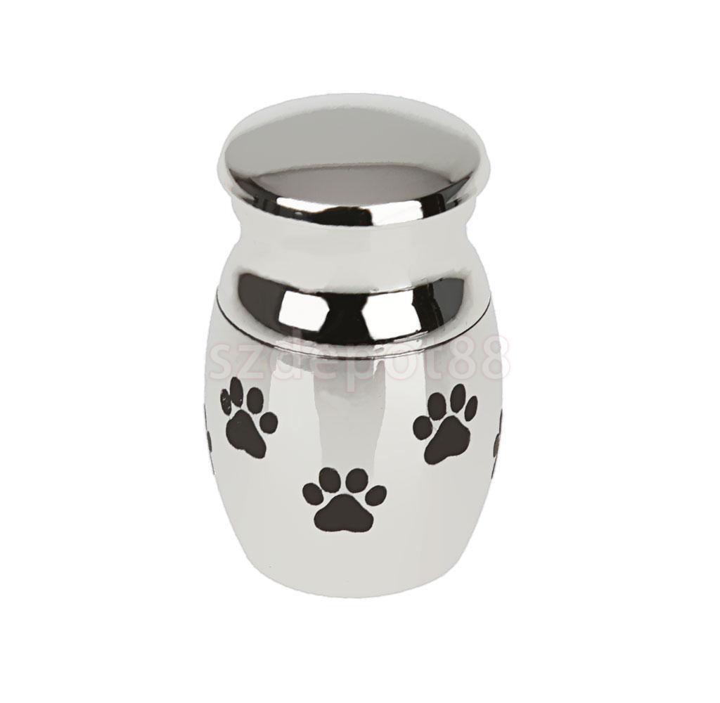 Padrão da pata do cão de estimação de aço inoxidável Cremação Urna Ash Titular Memorial Container Pendant Jewelry