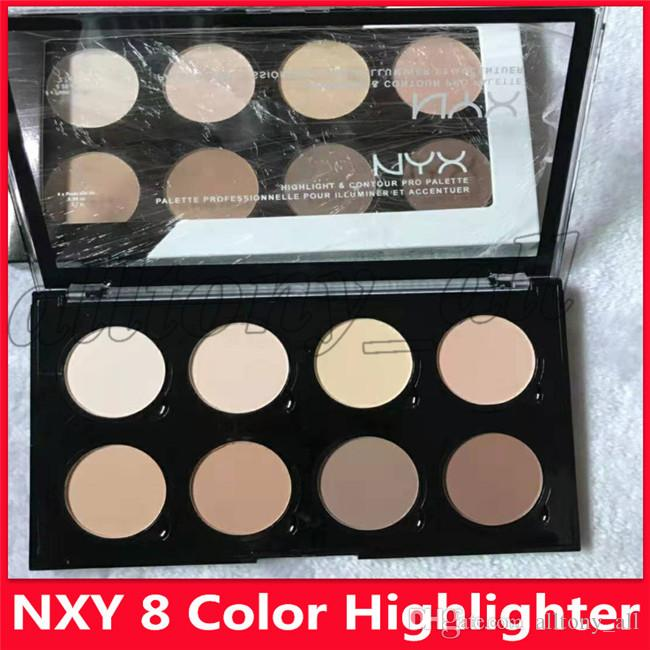 Lowest Price Hot NYX Highlight & Contour Cream Pro Palette 8 Colors Beauty Pigmented Shadow Highlighter Makeup Face Concealer Palettes