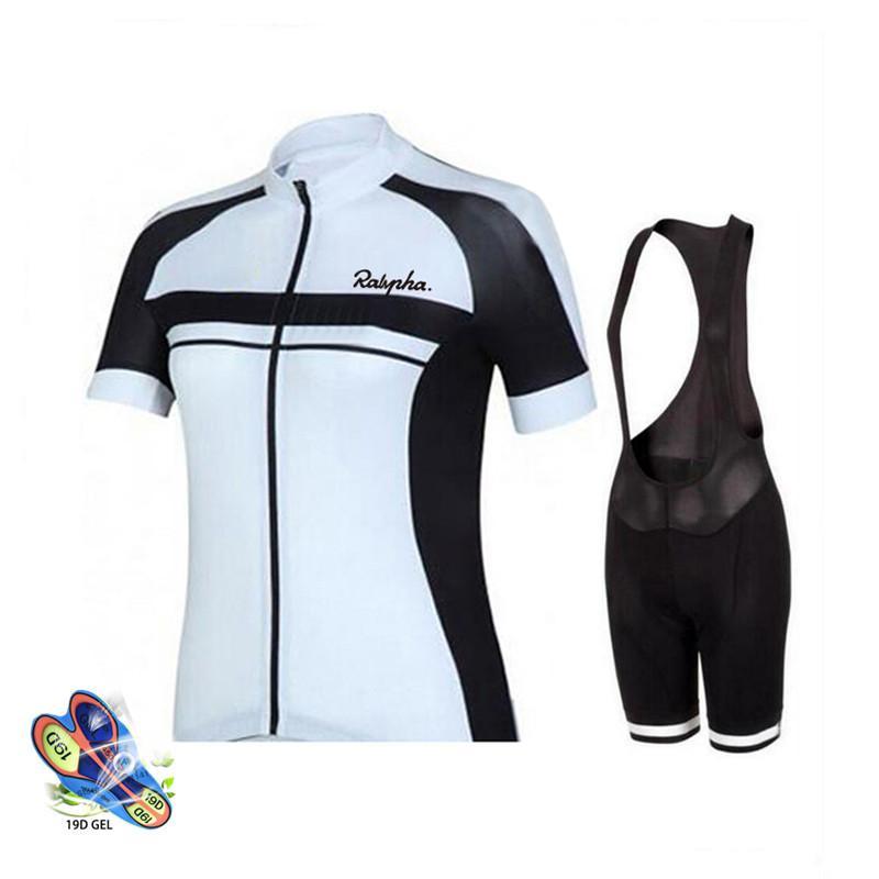 Женщины Одежда 2020 Быстрый сушки задействуя Джерси 19D Gel велосипед шорты Комплект MTB Ropa Ciclismo лето Велоспорт с короткими рукавами Джерси