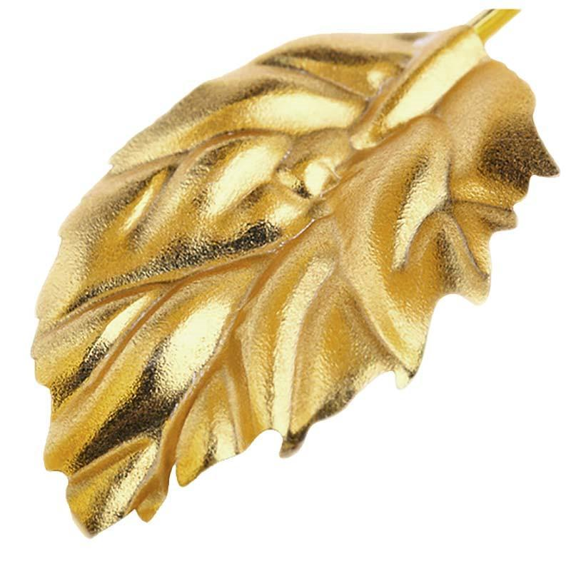 Wholesale- 24CM Handcrafted Handmade 24k Gold Foil Rose Flower Dipped Long Stem Lovers wedding Gift Random color