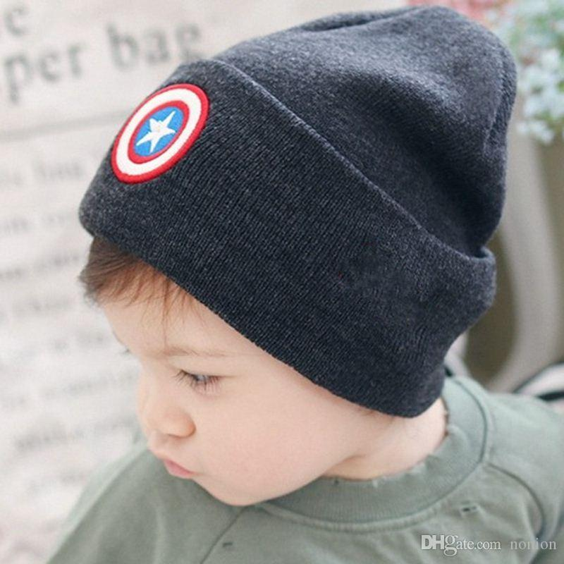 2017 New Autumn Winter Hats for Children Fashion Boys Girls Kids Knitted Wool Hat Beanies Five-pointed Star Cute Baby Caps Gorro