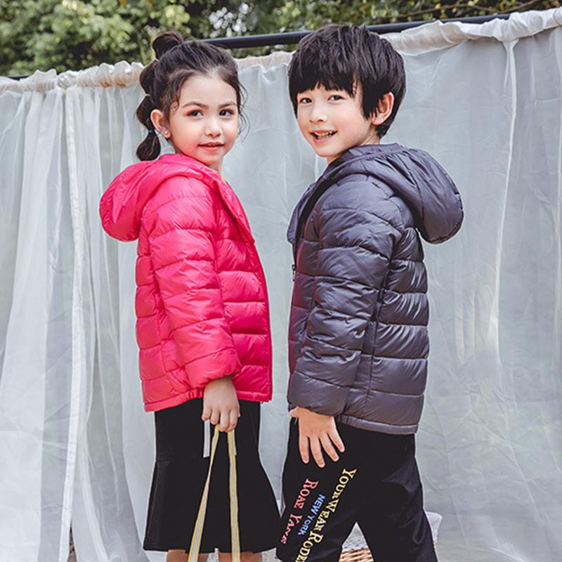 Spring fall Light children winter jackets Kids cotton Down Coat Baby jacket for girls parka Outerwear Hoodies Boy Coat CX200808