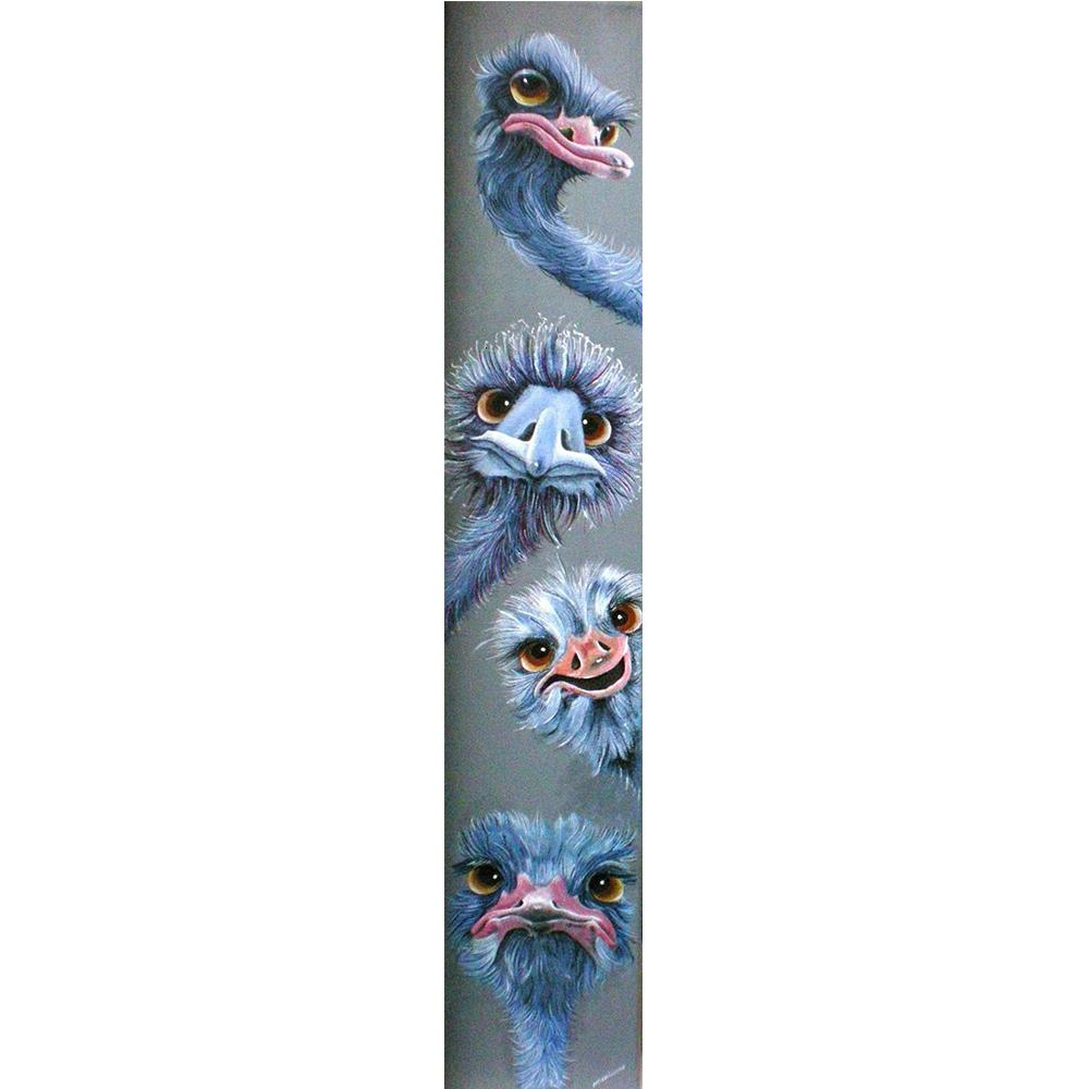 Neue Diamant-Malerei 5D Voll Quadrat / Runde Drill Tier Strauß Daimond Strass Stickerei Gemälde Kreuzstich Kit M608 CJ191209