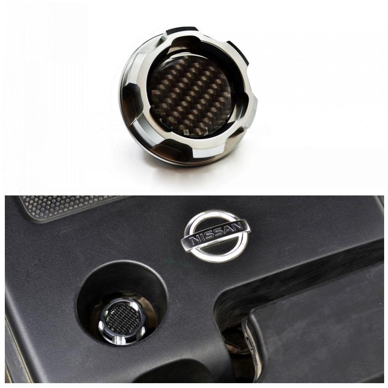 La tapa de aceite nueva plata de aluminio del motor para ALTIMA MAXIMA SILVIA S13 S14 240SX SENTRA SUNNY INFINITI 350Z 300ZX X-TRAIL FRONTERA