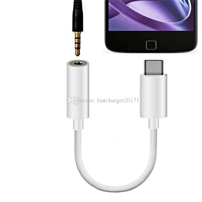 نوع C اوكس محول الإناث 3.5mm الصوت سترة نوع C USB لهاتف Nexus 5X 6P لسامسونج غالاكسي S8 اتش تي سي إل جي G5 الخ الهاتف المحمول