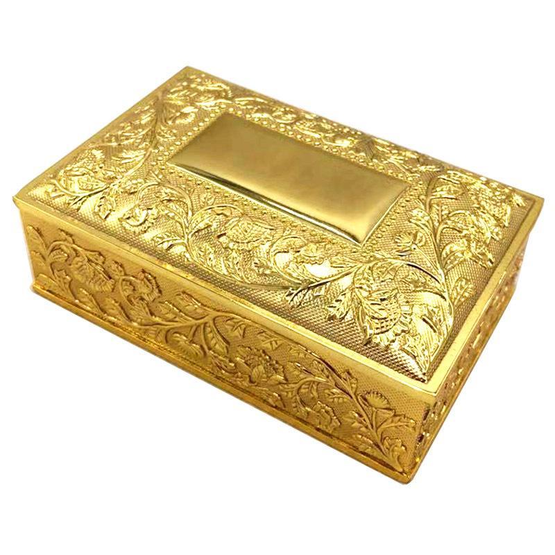 Creative European retro gold and silver metal princess clamshell jewelry box ring storage box