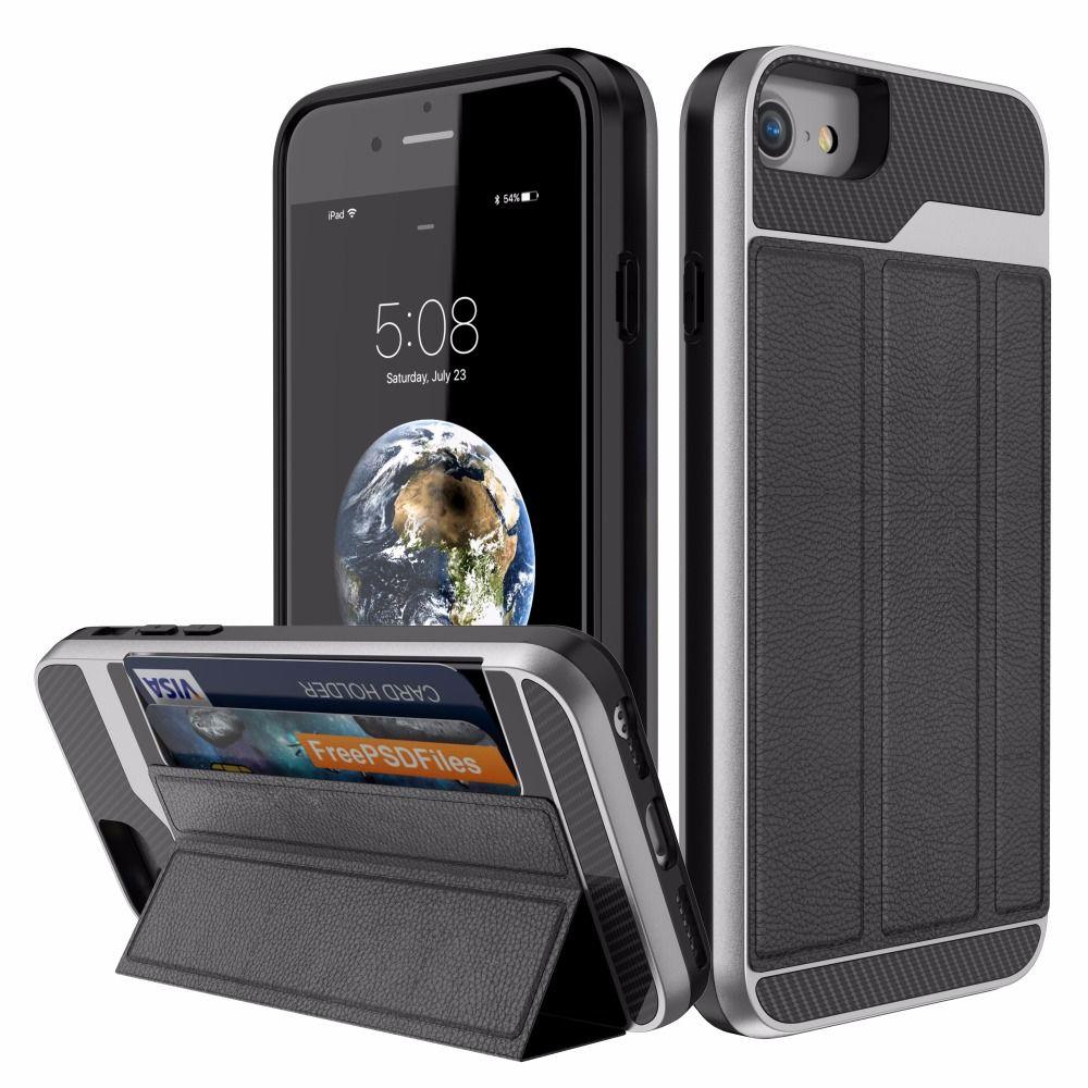 OKAYUSED Чехол Для iPhone 6 s 7 8 Plus ТПУ ПК Кожаный Держатель Карты Кожаный Бумажник Чехол Для iPhone 6 s 7 8 7plus 8plus Противоударный Коке