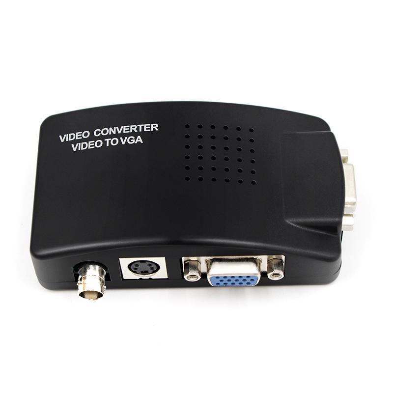 BNC для VGA конвертер Composite SVIDEO для VGA конвертер видео выход VGA адаптер цифровой коммутатор Коробка для ПК MACTV камеры DVD DVR