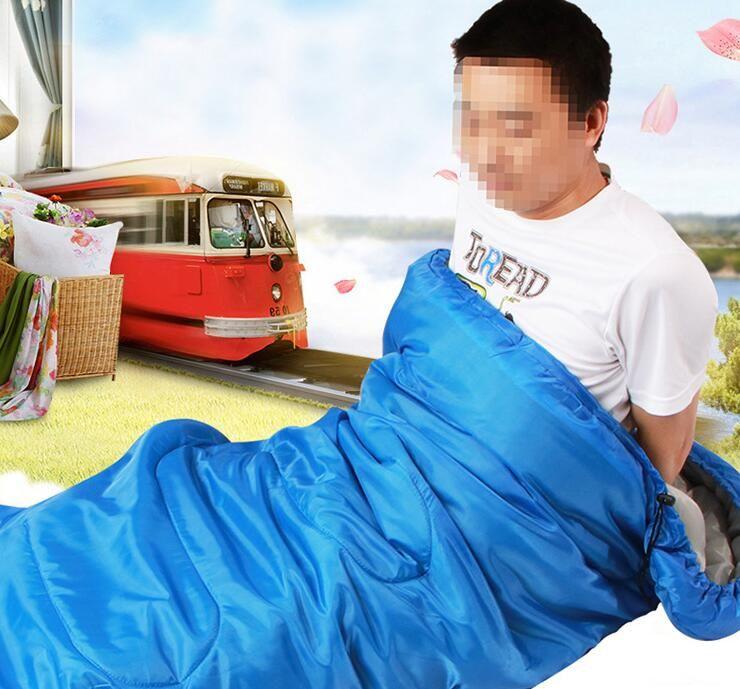 Aquecendo único saco de dormir ao ar livre Sacos de Dormir Casual impermeáveis Cobertores Envelope Camping viagens Caminhadas Cobertores Saco de dormir LXL964Q