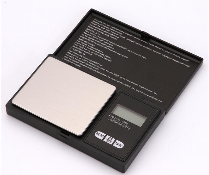 Mini Pocket Digital scala 0.01kg gioielli moneta d'oro Pesare equilibrio dei monili a cristalli liquidi Digital scala elettronica di bilanciamento del nero / argento