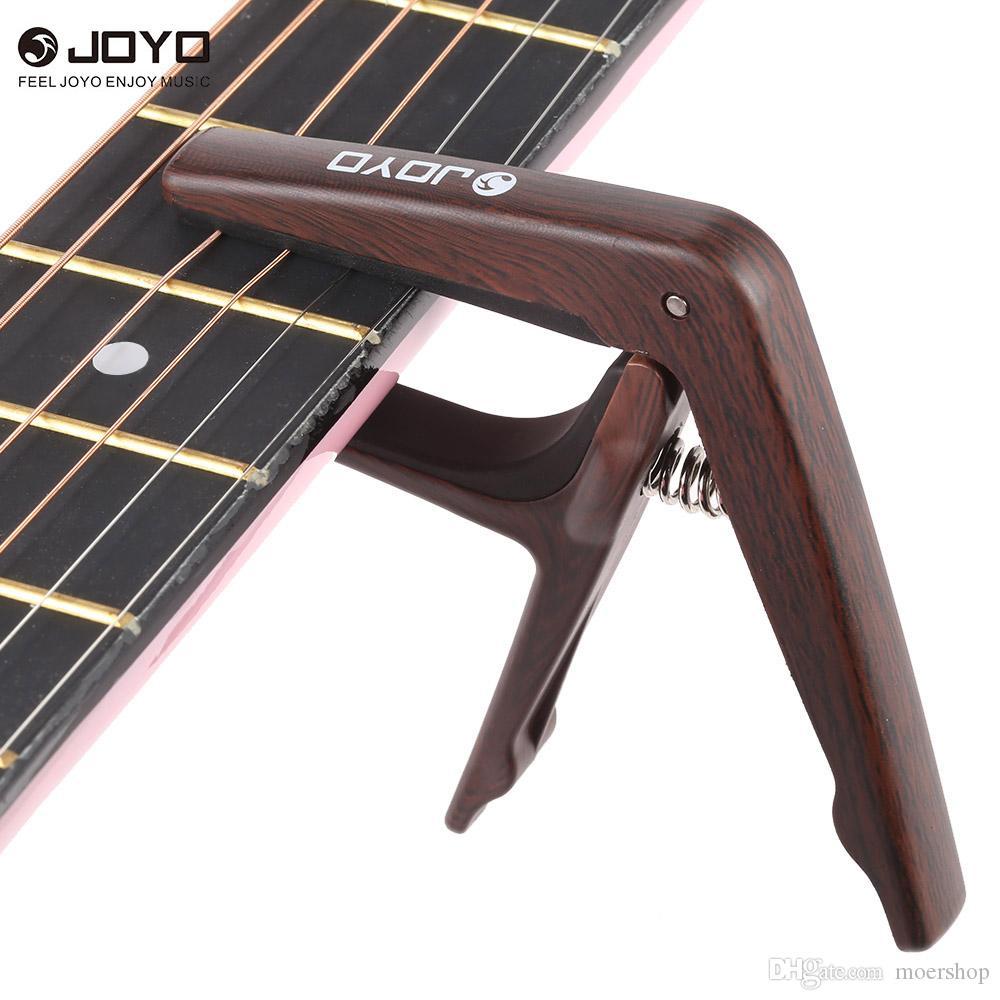 JOYO JCP-01 Light Guitar Capo التغيير السريع المشبك مفتاح البلاستيك الصلب مع اختيار الغيتار