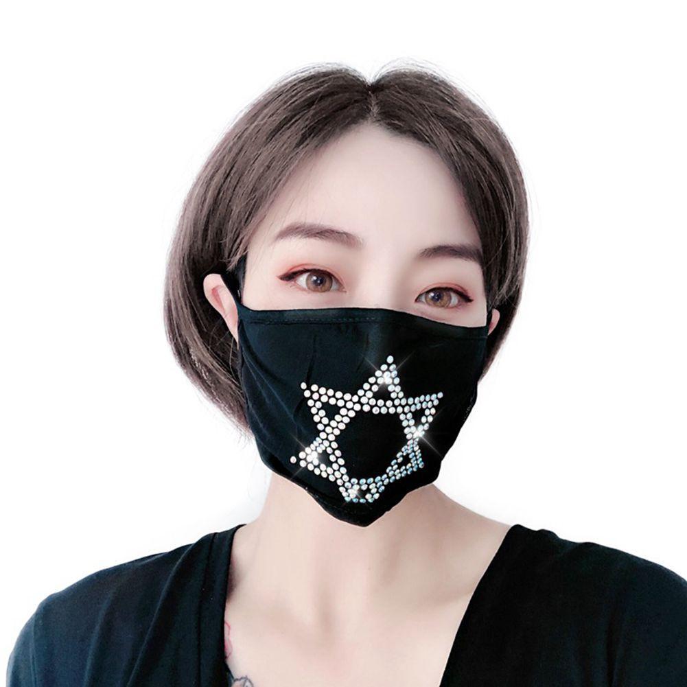 Fashion Designer Maschera di nuovo stile per le donne Stella di David partito strass maschera facciale decorazioni Sparkling Donne Glittering Maschera di copertura