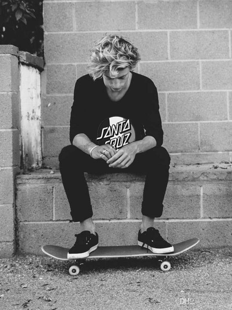 Santa Cruz di skateboard tendenza della via t-shirt da uomo street style hip hop maglietta del O-collo allentato di alta qualità superiore tee DYDHGMC206