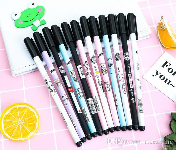 Best selling gel pen wholesale free shipping Creative neutral couple pair of pens 2 sets of neutral pen set student writing supplies2-417