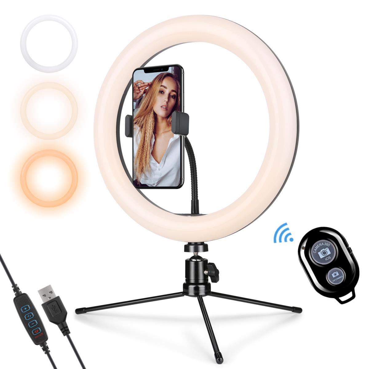 """10"""" Ring Light com suporte e Phone Holder, de 10 polegadas LED Círculo Luz para Stream, selfie, vídeos do YouTube, Foto Tiro"""