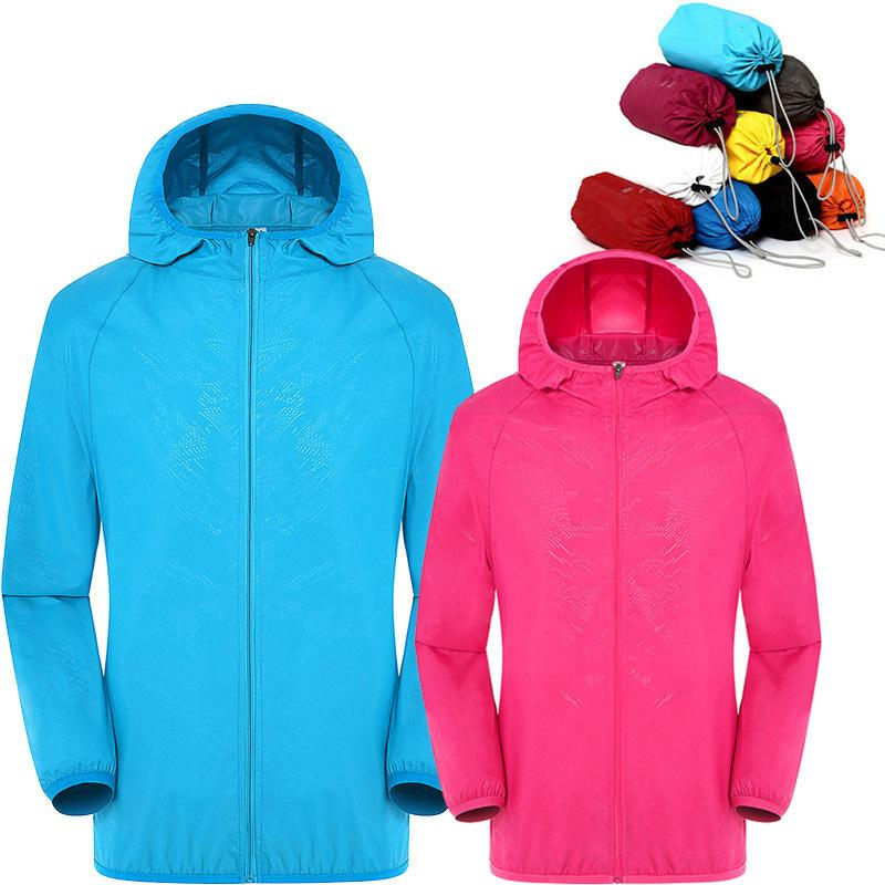 Ultra-Light Rainproof Windbreaker Jacket Breathable Waterproof Windproof for Women Men NGD88