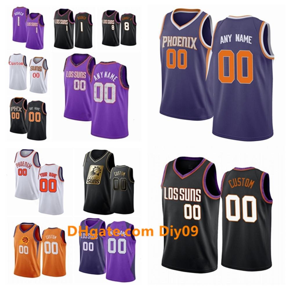 Phoenix personalizadaSolesJersey Aron Baynes 46 Ricky Rubio Mikal 11 25 22 Puentes Deandre Ayton alero de baloncesto jerseys Púrpura Blanco
