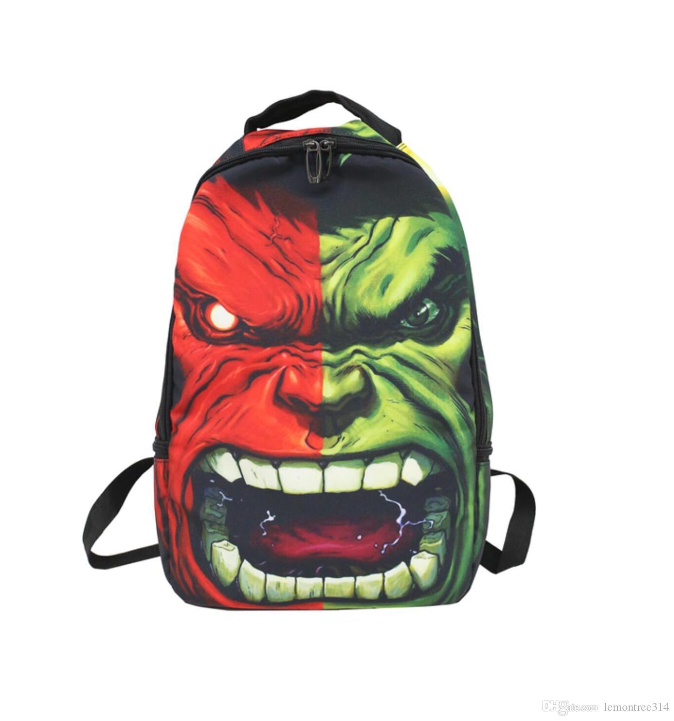 Мужская женская рюкзак мультфильм мода холст сумка панк путешествия школа Оксфорд сумки унисекс 3D плечи сумки повседневная сумка высокой емкости