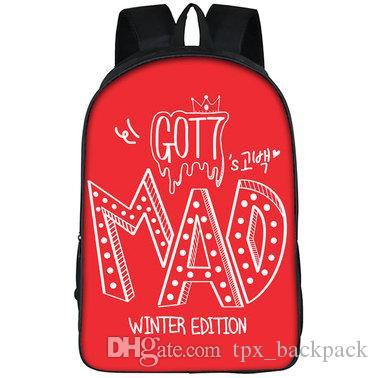 على ظهره جنون Got7 day pack حقيبة مدرسية للشتاء في فصل الشتاء حصلت على 7 packsack Picture rucksack الرياضة المدرسية في الهواء الطلق daypack