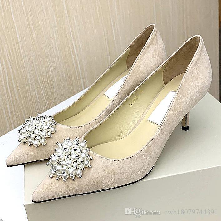 New alta qualidade mulheres sapatos vermelhos de designer de fundo saltos altos sexy soles dedo apontado com sapatos de casamento saco de pó logotipo 6,5 centímetros Originalbox qwx