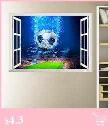 Grosshandel 3d Fenster Fussball Fussball Wandaufkleber Fur Kinderzimmer Wohnzimmer Wandtattoos Gym Jungen Zimmer Pvc Home Wandkunst Dekorationen Von
