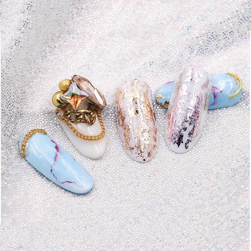 7 pçs / set 4 * 20 cm Ouro Fosco Prata Céu Estrelado Prego Subiu Transferência De Ouro Adesivos Decalques Manicure Nail Art Decoração