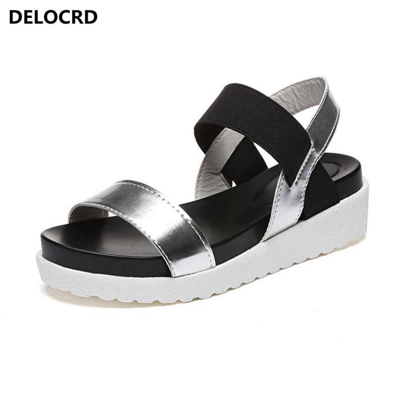 2018 Sommer-Sandalen für Damen Neue Schuhe Peep-toe Sandalen Flache Schuhe römische Sandalen Schuhe Frau Mujer Damen Flip Flops Schuhe CX200610