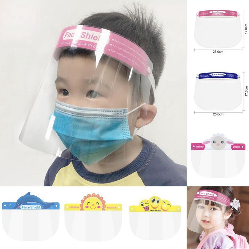 Bouclier Anti Visage enfants Gouttelettes Masques anti-poussière facial 6 Styles de protection couverture Yeux Visage transparent Protectective Masque OOA7960