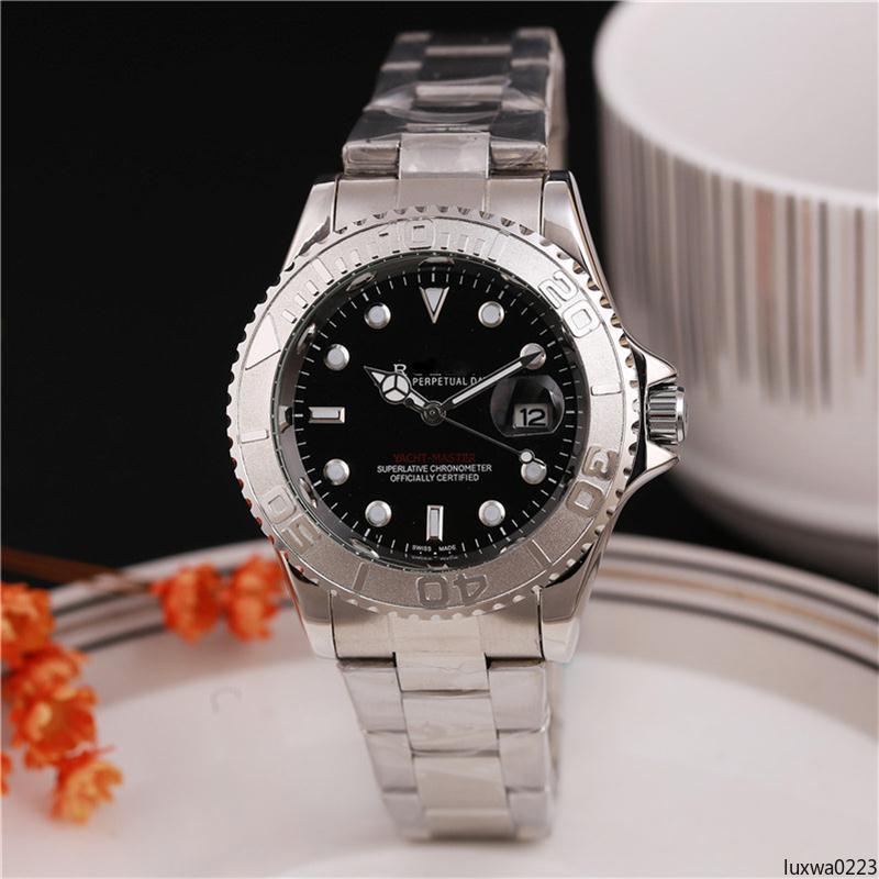 Luxwa0223 2020 Dial manera con el calendario de cierre plegable para hombre / mujer relojes de cuarzo de 40 mm Relogio Masculino para hombre relojes de cuarzo