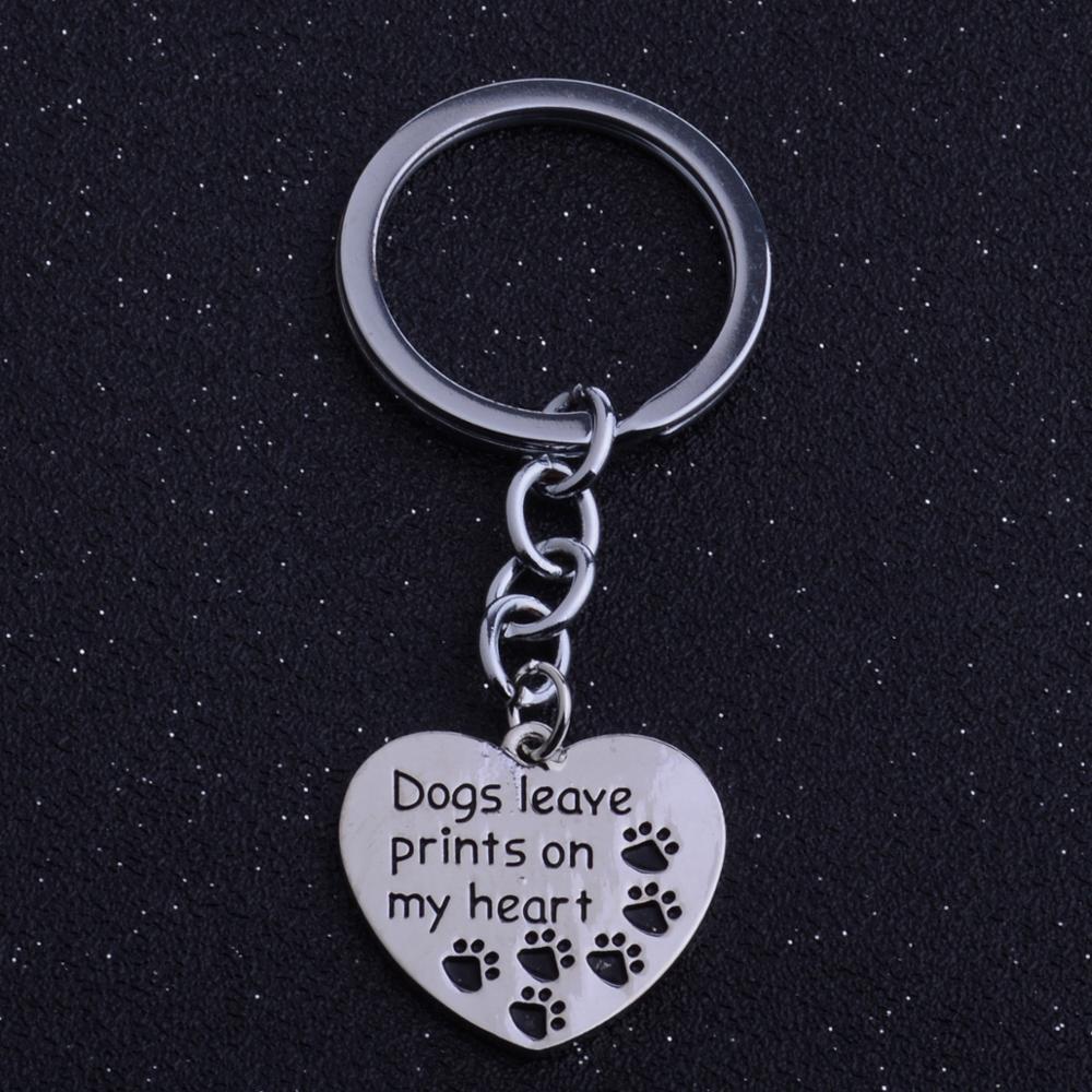 12PC Hunde verlassen drucke Mein Herz Charm Anhänger Schlüsselanhänger Cute Pet Paws Claws drucken Schlüsselanhänger Frauen Männer Schmuck Hundeliebhaber Geschenke
