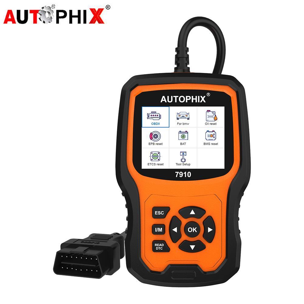 Autophix 7910 المهنية OBD2 ماسح السيارات لE46 E90 E60 E39 DPF TPMS SAS النفط إعادة النظام أداة تشخيص OBDII كاملة
