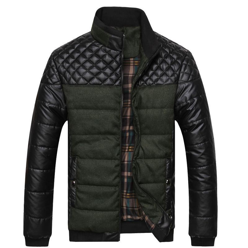 Kış erkek giyim Yeni Stil Kalın Günlük Kış Ceket Erkek Kalın Pamuk dolgulu Giyim Pamuk Elbise