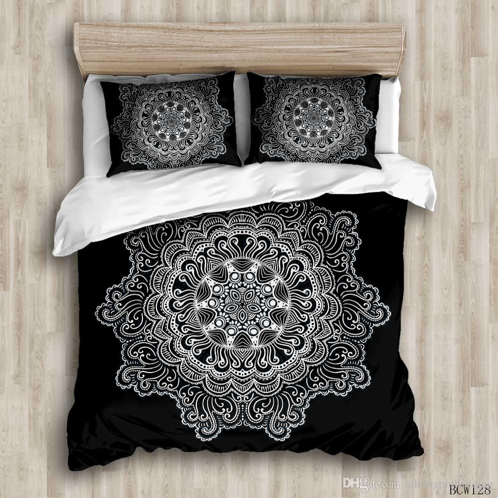 3D designer bedding sets black king size luxury Quilt cover pillow