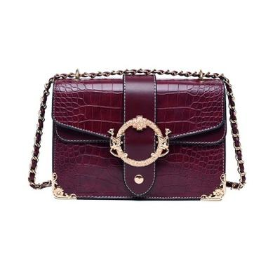 New chain Alligator women designer shoulder messenger crossbody bags lady fashion casual evening purses black/burgundy/brown color no1335