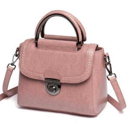 South Korean version of the new cowhide bag lady inclined shoulder bag leather handbag