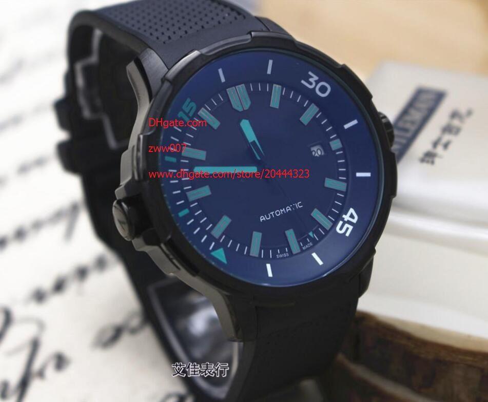 3 Color Factory Supplier Relojes de pulsera de calidad superior 44mm Reloj mecánico automático para hombre Relojes Correa de goma Bandas