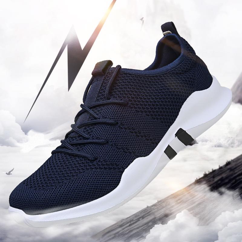 Marca Para hombre zapatos casuales ligeros zapatillas de deporte de malla transpirable de moda para adultos plana calzado Zapatillas Hombre tamaño grande 39-46