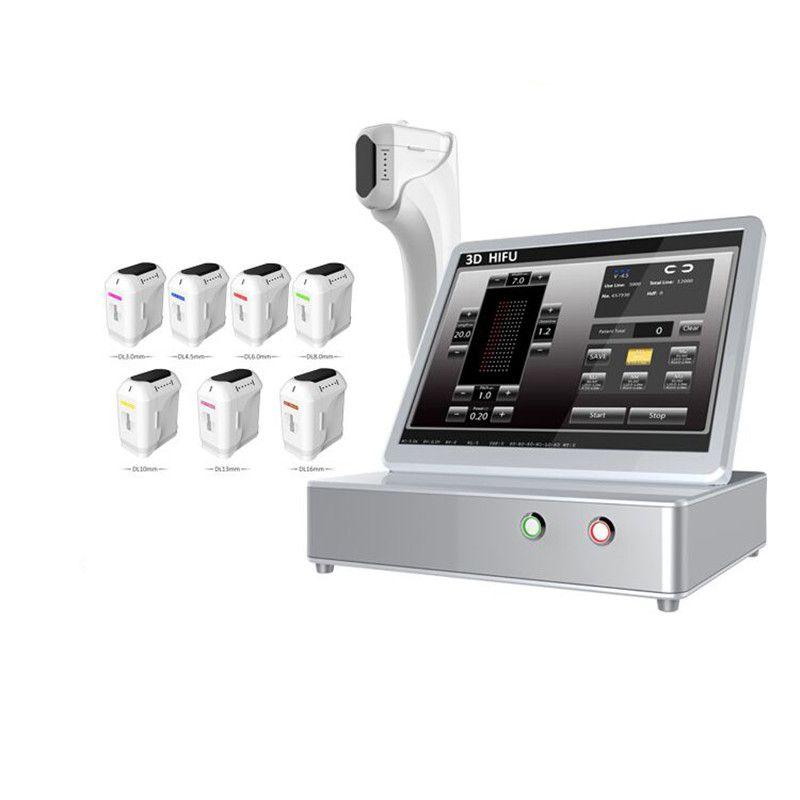 HIFU آلة 3D تركز على الموجات فوق الصوتية إزالة التجاعيد الوجه التخسيس الجسم 11 خطوط خراطيش مع 20000 أشعة هيفو آلة الجمال