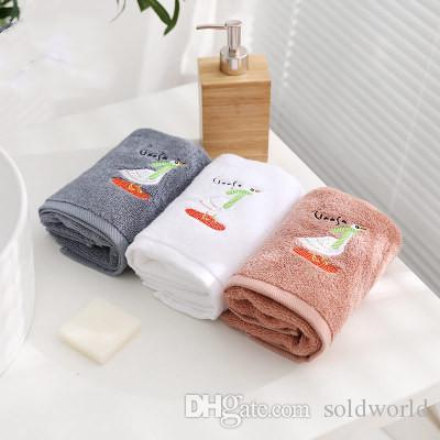Hot vente 35 * 75cm 100% coton épais Absorbent Serviette adulte main Serviette de bain Hôtel Serviettes MOQ 30 pièces