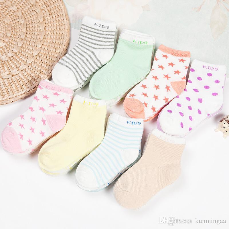 Calcetines Bebé Recién nacido Niño niña Casual Invierno Infantil Bebé Calcetines Piso Niños Calcetines
